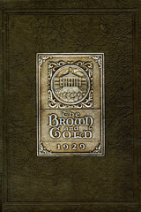 1929 Brown and Gold yearbook cover