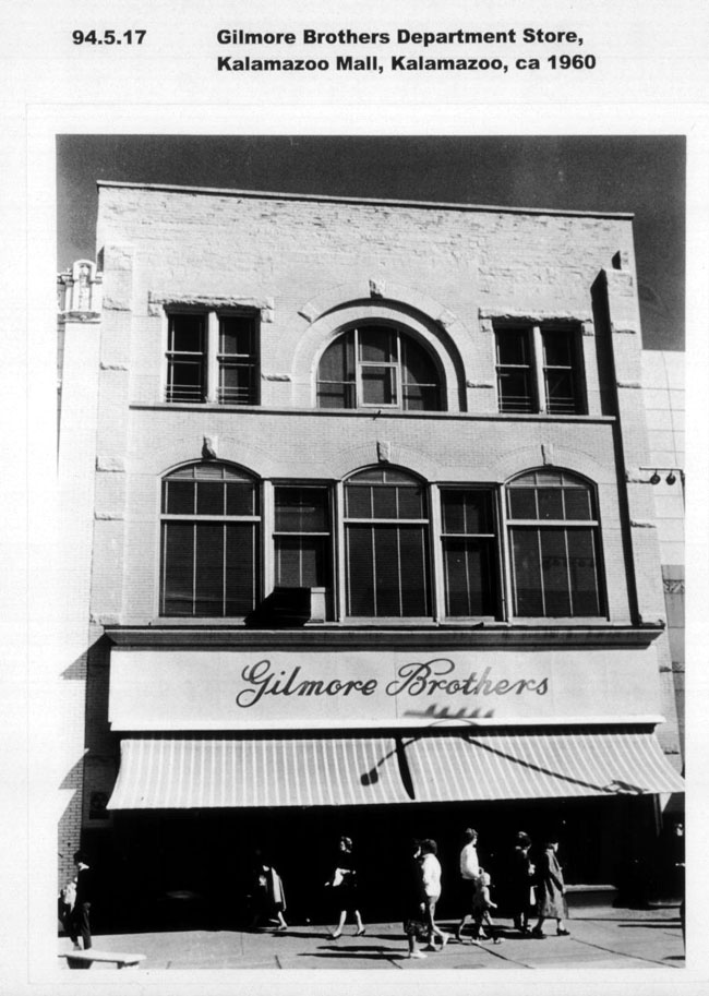 Gilmore Brothers Department Store  ca 1960. Kalamazoo Mall